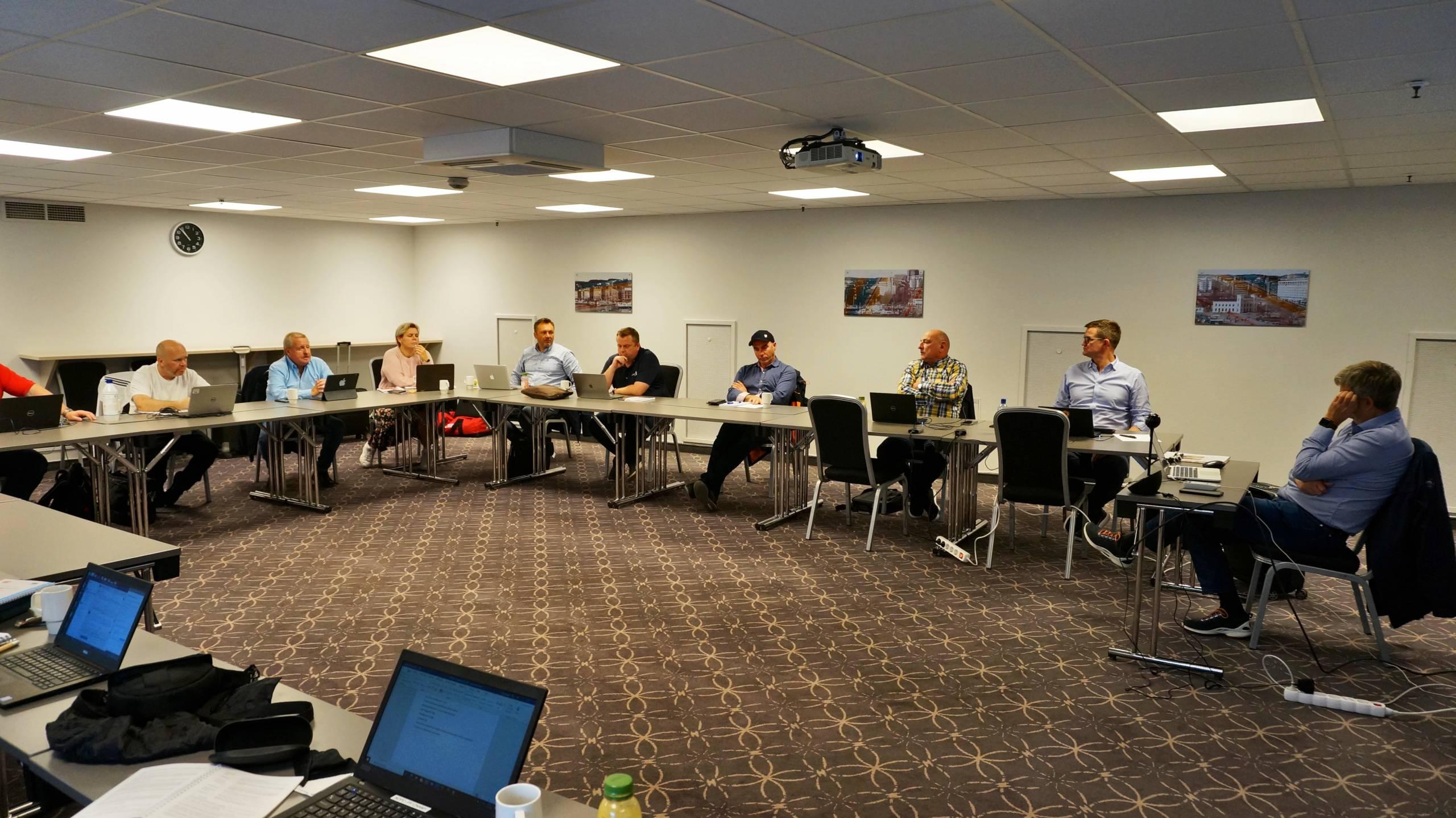 Forhandlingsutvalget fra SAFE, samlet i Oslo FOTO: Bjarte Lygre